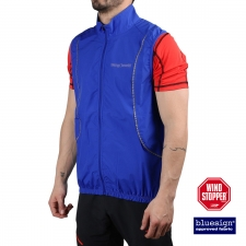 Trangoworld chaleco Windstopper Ghent Azul Hombre