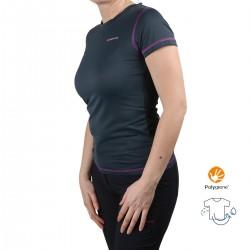 Trangoworld Camiseta Kami Gris Morado Mujer