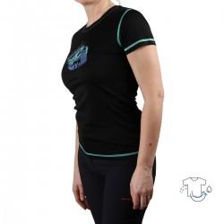 Trangoworld Camiseta Sadali Negro Menta Mujer