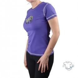 Trangoworld Camiseta Sadali Morada Escalada Mujer