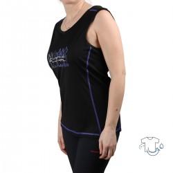 Trangoworld Camiseta Talana Negro Morado Mujer