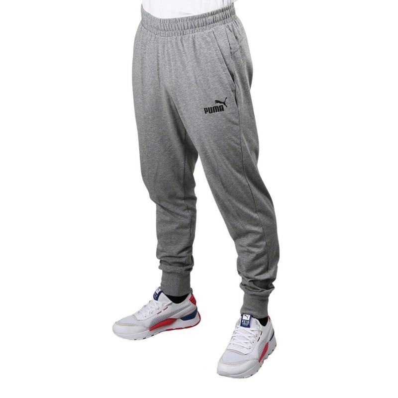 Puma Pantalón ESS Jersey Pants Medium Gray Gris Jaspeado Hombre