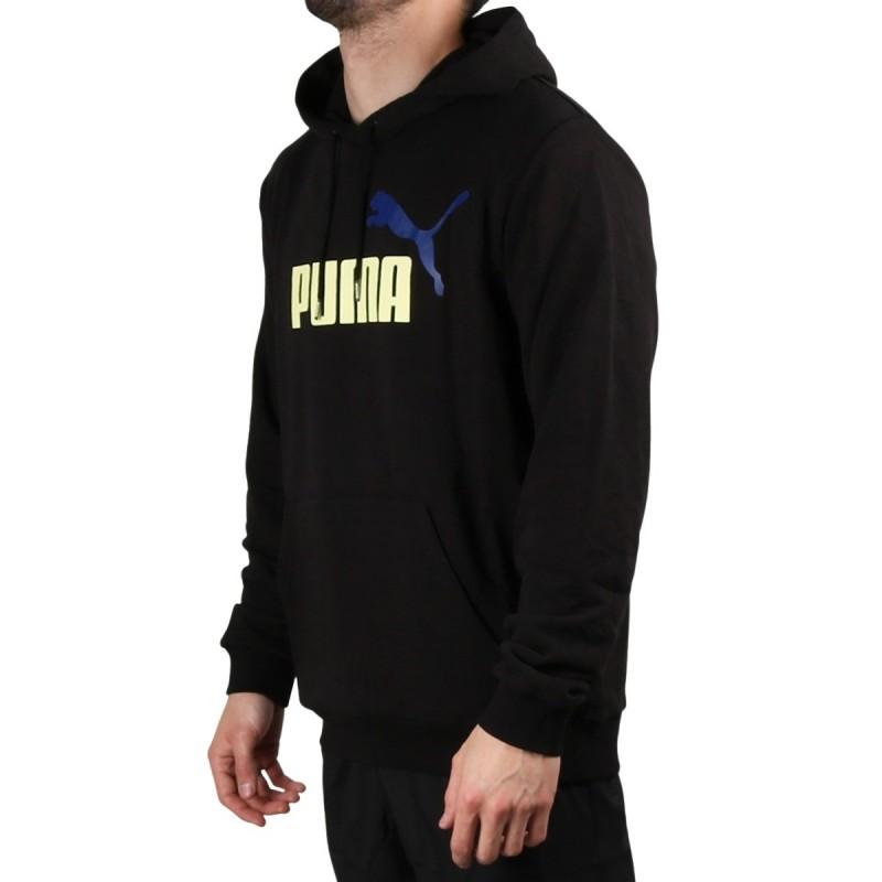 Puma Sudadera Essentials+ 2 Col Big Logo Hoodie Training Black Negro Hombre