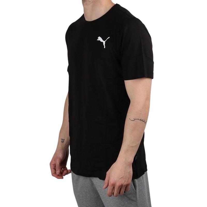 Puma Camiseta Essentials Small Logo Tee Black Negro Hombre