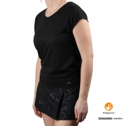 Salomon Camiseta COMET SS Tee Heather Black Negro Mujer