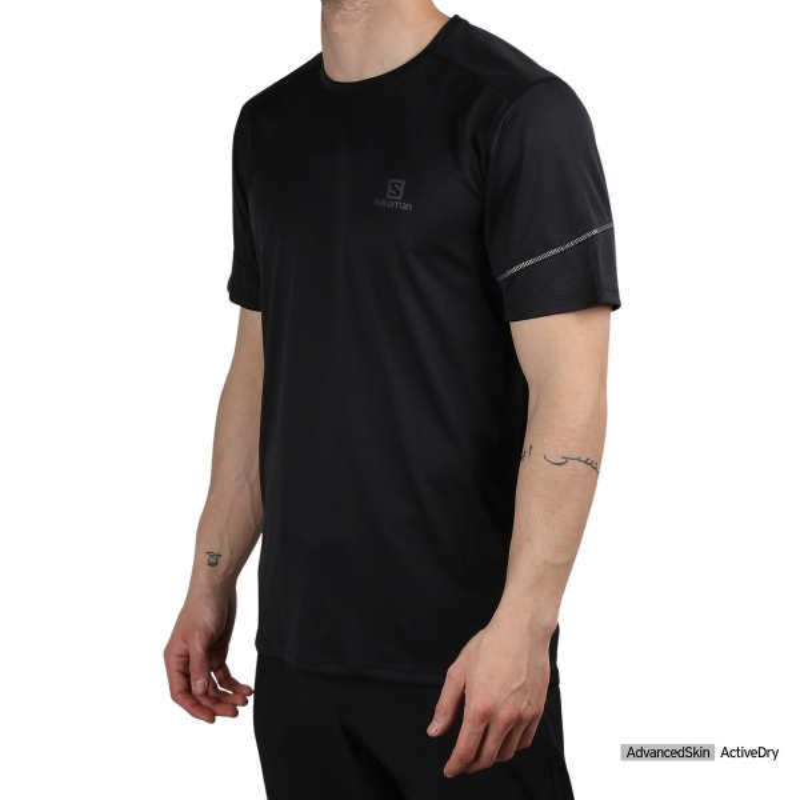 Salomon camiseta MC AGILE Black Negro Hombre