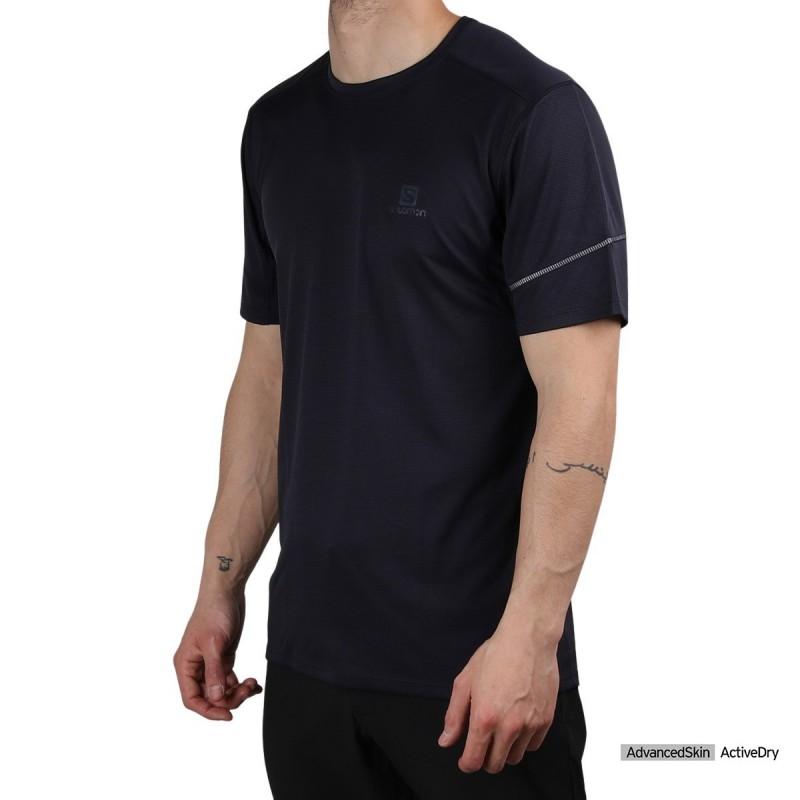 Salomon camiseta AGILE SS Night Sky Cobalto Hombre