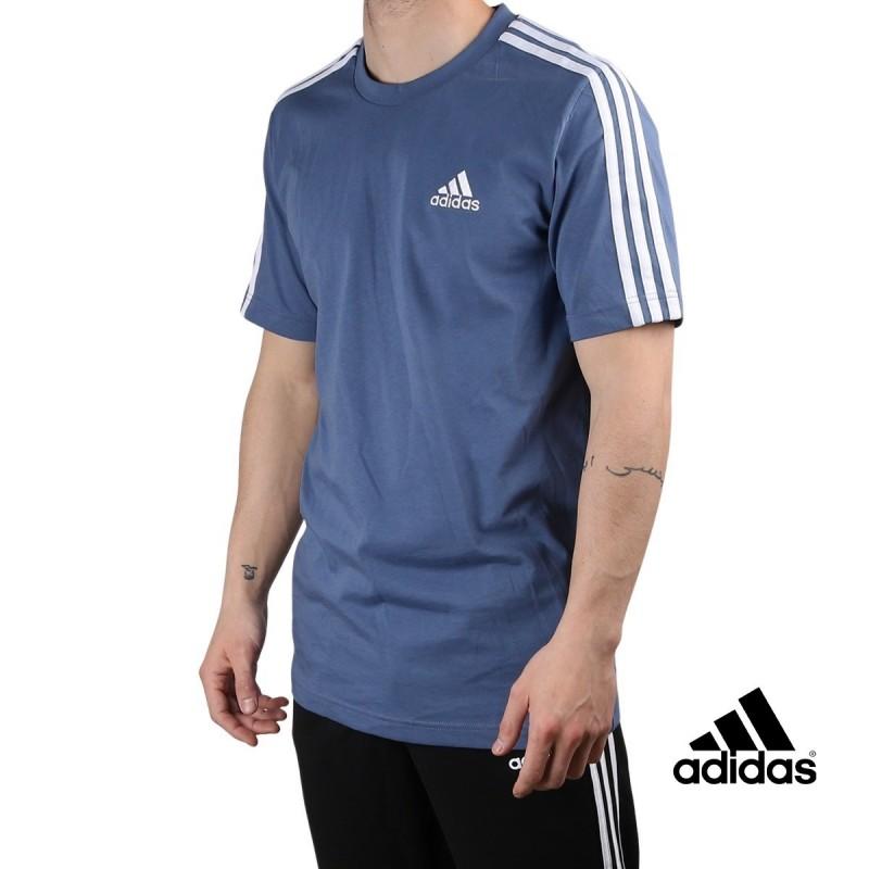 ADIDAS Camiseta M 3S SJ T 3 bandas Crew Blue Azul Hombre