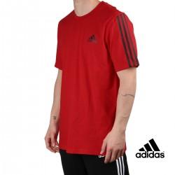 ADIDAS Camiseta M DK T 3 bandas Scarlet Rojo Hombre