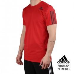 ADIDAS Camiseta AERO3S Slim Vivid Red Rojo Hombre