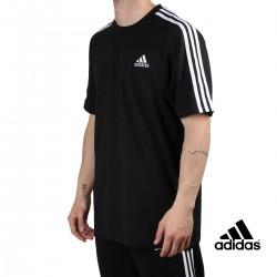 ADIDAS Camiseta M 3S SJ T 3 bandas Black Negro Hombre