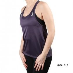 Nike Camiseta tirantes MILER Dark Raisin Morado Mujer
