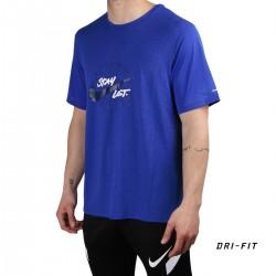 Nike Camiseta Dri-FIT Miler Wild Run Game Royal Azul Hombre