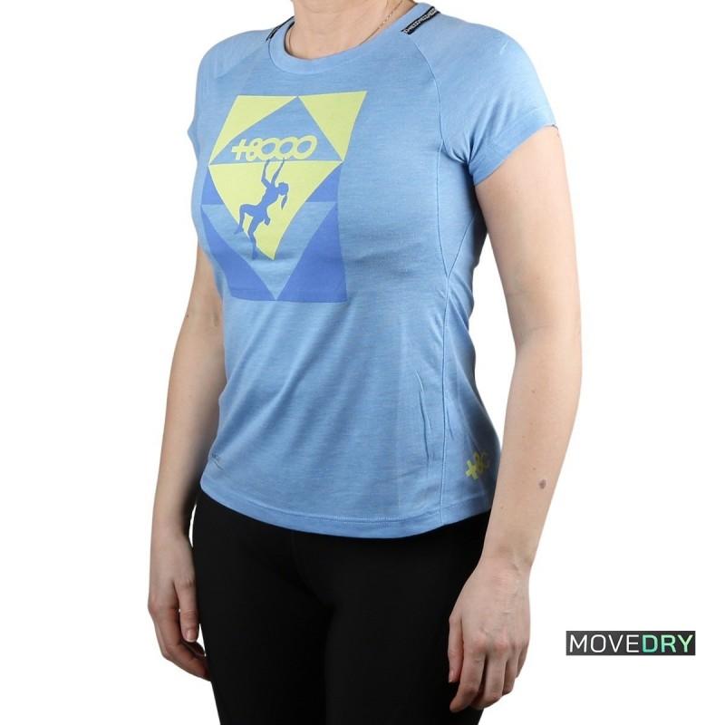 +8000 Camiseta SLAB 21V Azul Lavado Vigore Mujer