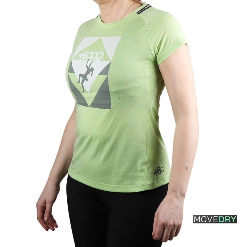 +8000 Camiseta SLAB 21V Verde Pastel Vigore Mujer