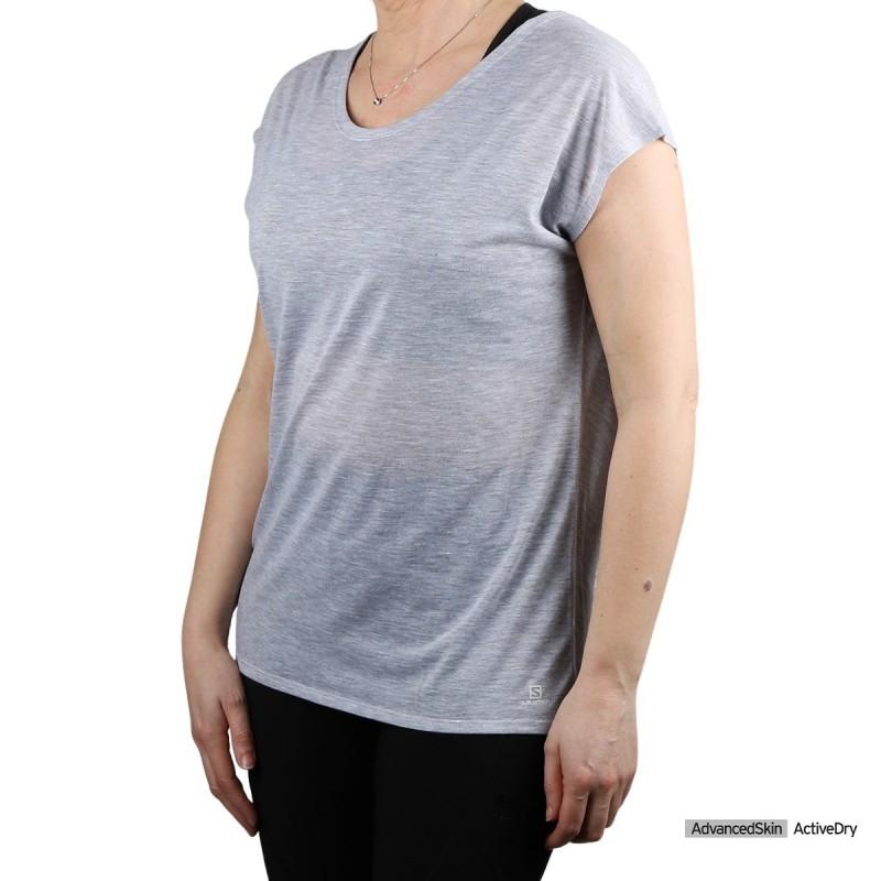 Salomon Camiseta COMET SHAPED White Blanco Jaspeado Mujer