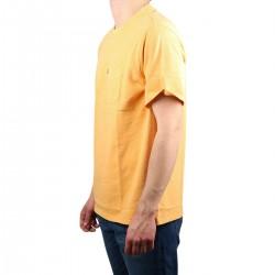 Levis Camiseta Relaxed Fit Tee Sunset Pocket Bolsillo Kumquat Garment Dye Amarillo Anaranjado Hombre