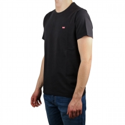 Levis Camiseta Original Housemark Tee Mini Logo Stonewashed Black Negro Hombre
