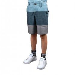 Rip Curl Pantalón Corto Jackson Panel Boy Mid Blue Franjas Azul Niño