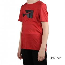 Nike Camiseta DRY HBR Logo Rojo universitario Niño