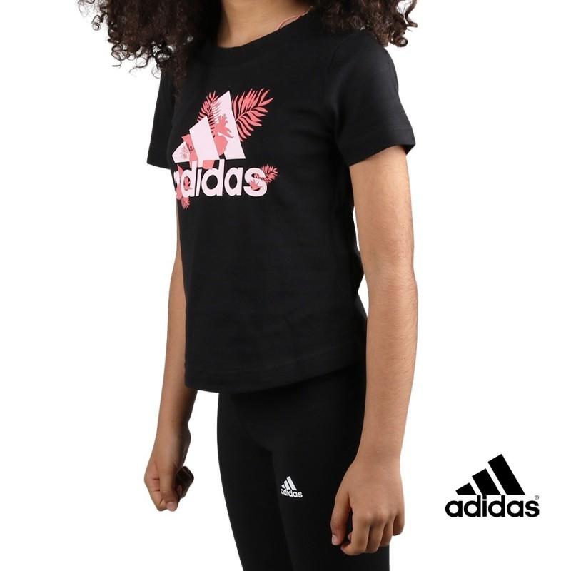 ADIDAS Camiseta TROPICAL Sports Graphic Negro Niño