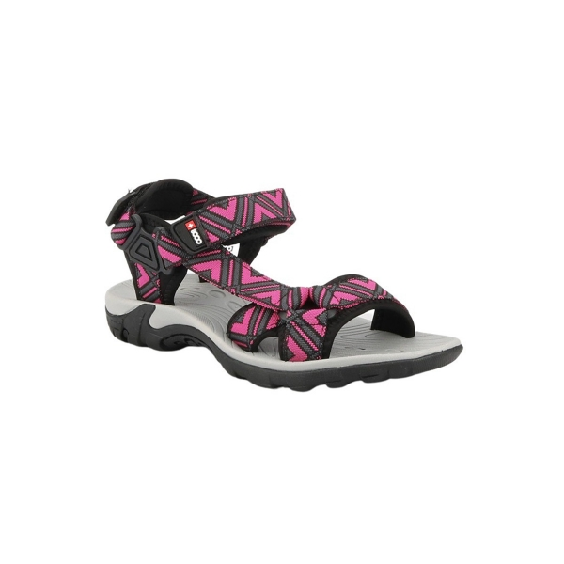 +8000 Sandalia TAKER 21V NEGRO/ROSA Mujer