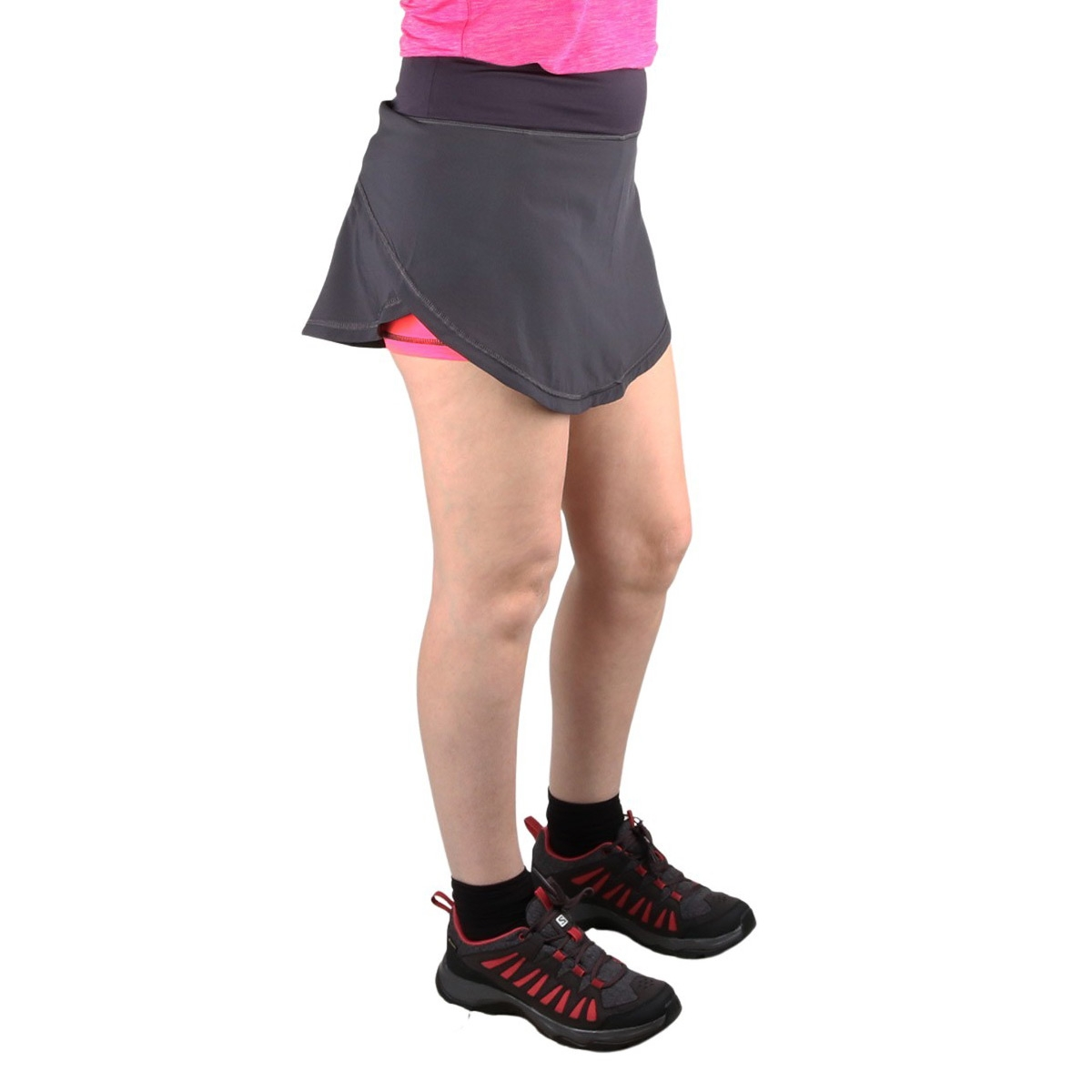 CMP Falda Running 2 en 1 Anthracite Gloss Gris Coral Fluor Mujer