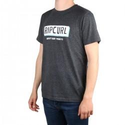 Rip Curl Camiseta BOXED Black Marled Gris oscuro Jaspeado Hombre