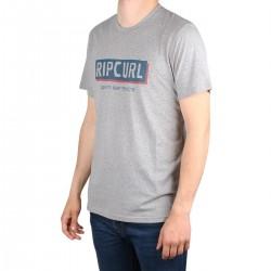 Rip Curl Camiseta BOXED Grey Marle Gris claro Jaspeado Hombre
