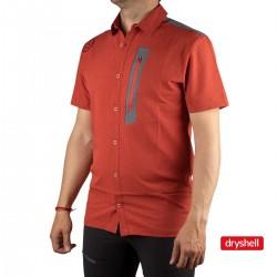 Ternua Camisa KOTNI C-Orange Red Naranja Gris Hombre