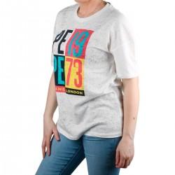 Pepe Jeans Camiseta DITA Off White Blanco Mujer