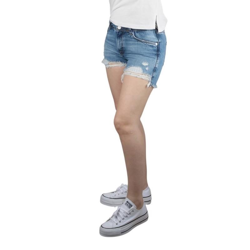 Pepe Jeans Short THRASHER DESTROY Azul lavado Mujer