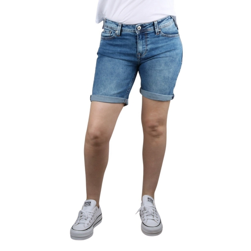Pepe Jeans Short POPPY Azul lavado Mujer