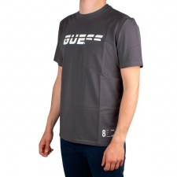 Guess Camiseta Logotipo Bolsillo Dark Grey Gris Blanco Hombre