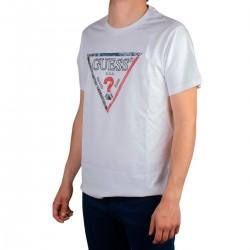 Guess Camiseta Triesley Triángulo Blanco Hombre