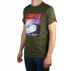 Guess Camiseta VINYL VOL.20 Verde Hombre