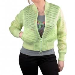 Guess Chaqueta cortavientos Scuba Light Green Verde Claro Mujer