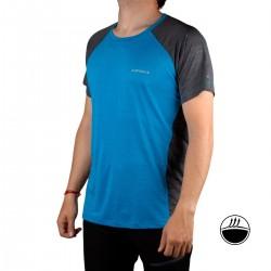 IcePeak Camiseta DESTIN Blue Azul Gris Jaspeado Hombre