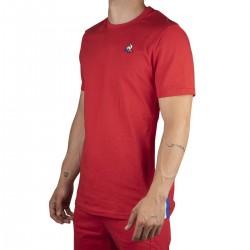 Le Coq Sportif Camiseta TRI Tee SS N°2 M PUR ROUGE Rojo Hombre