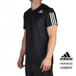 ADIDAS Camiseta Aeroready Slim 3 bandas Negro Black Hombre