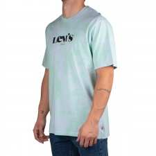 Levis Camiseta SS Relaxed Fit Tee New Logo II Sprout Dye Verde Azul Hombre
