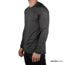 Salomon Camiseta Xa Long Sleeve Black Gris Oscuro Hombre