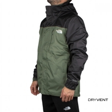 The North Face Chaqueta Desmontable Quest Zip-In Triclimate® Thyme Verde Negro Hombre