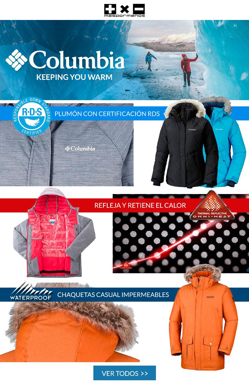 Oferta en chaquetas de invierno Columbia
