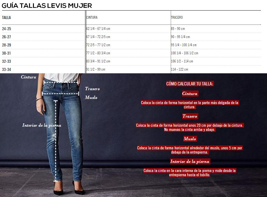 Guía de tallas   Google imagenes, Pantalones levis