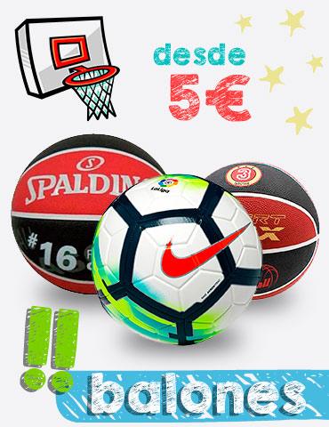Balones de fútbol y baloncesto para la vuelta al cole